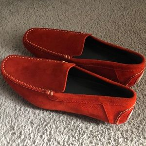 Calvin Klein - Eclectic Red/Orange Suede Loafers